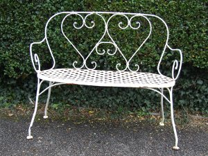 Incroyable Vintage French Garden Bench