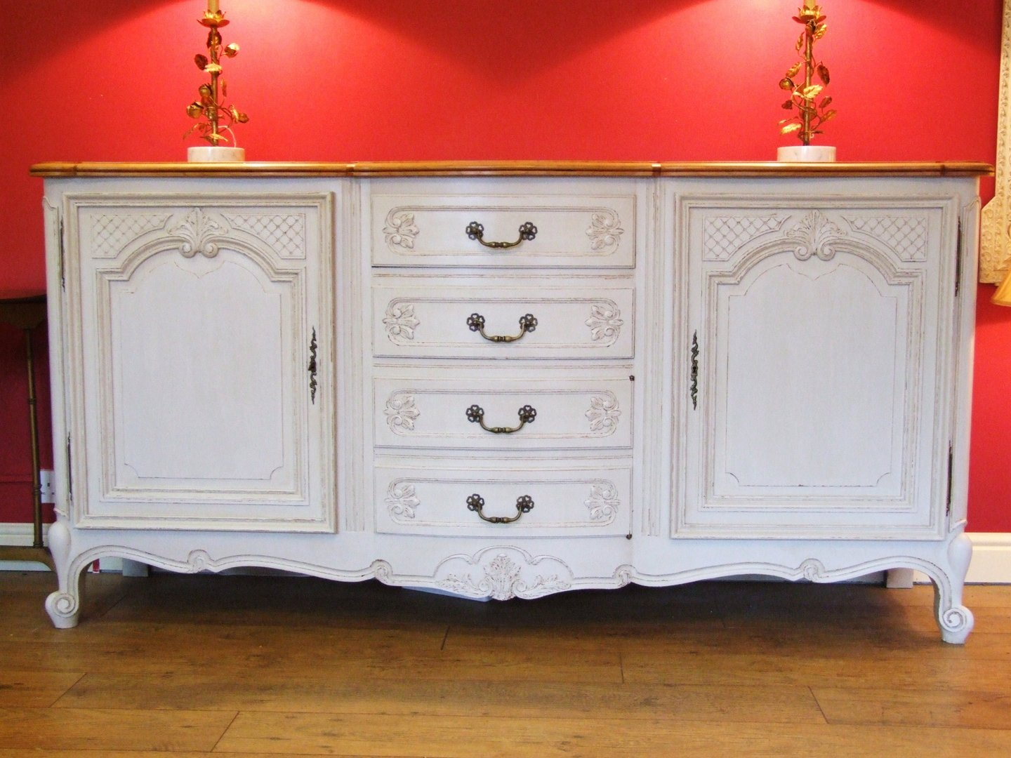 f287 painted vintage french enfilade la belle toffe. Black Bedroom Furniture Sets. Home Design Ideas