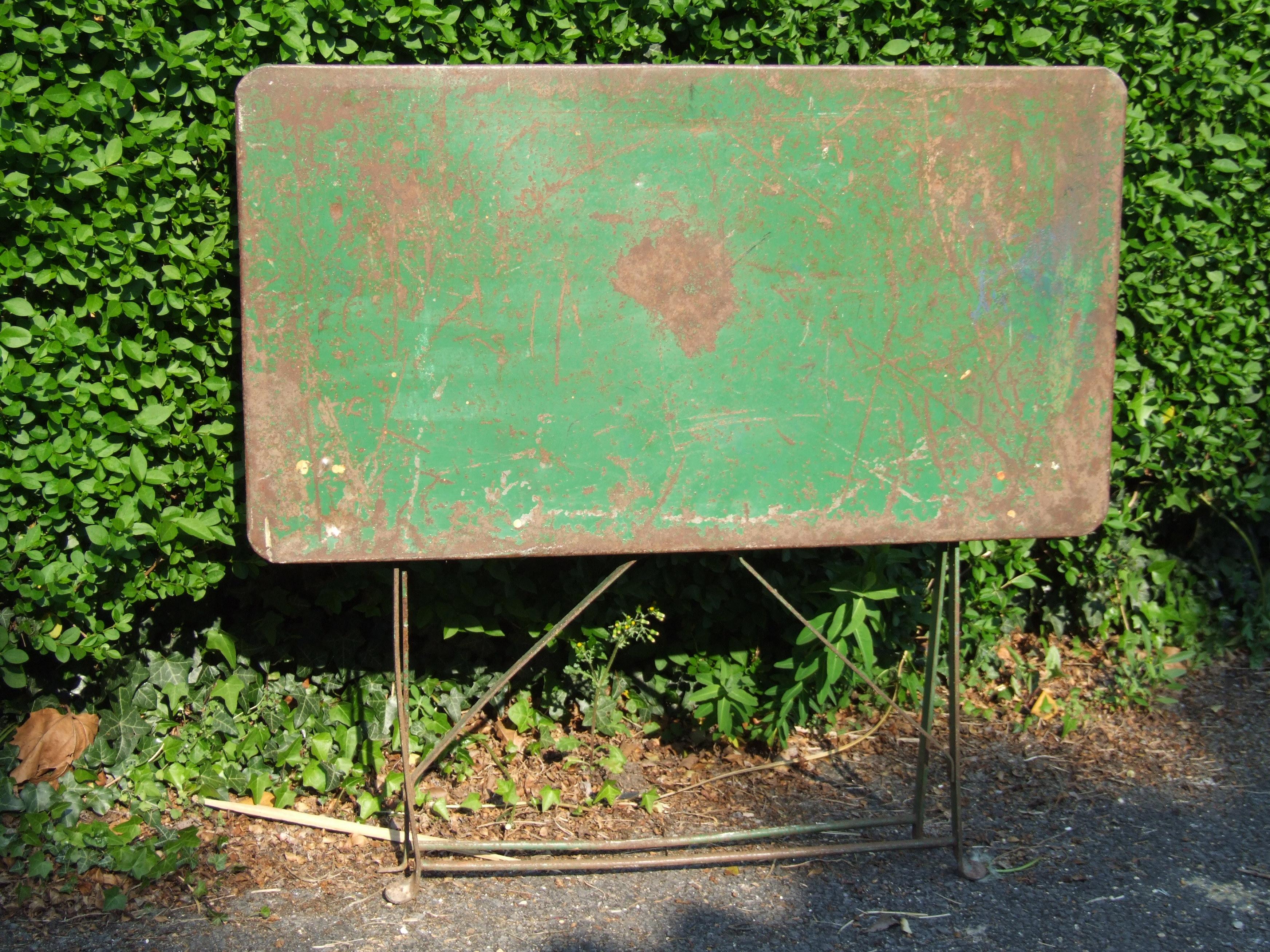 G095 S Vintage French Folding Garden Table La Belle 201 Toffe