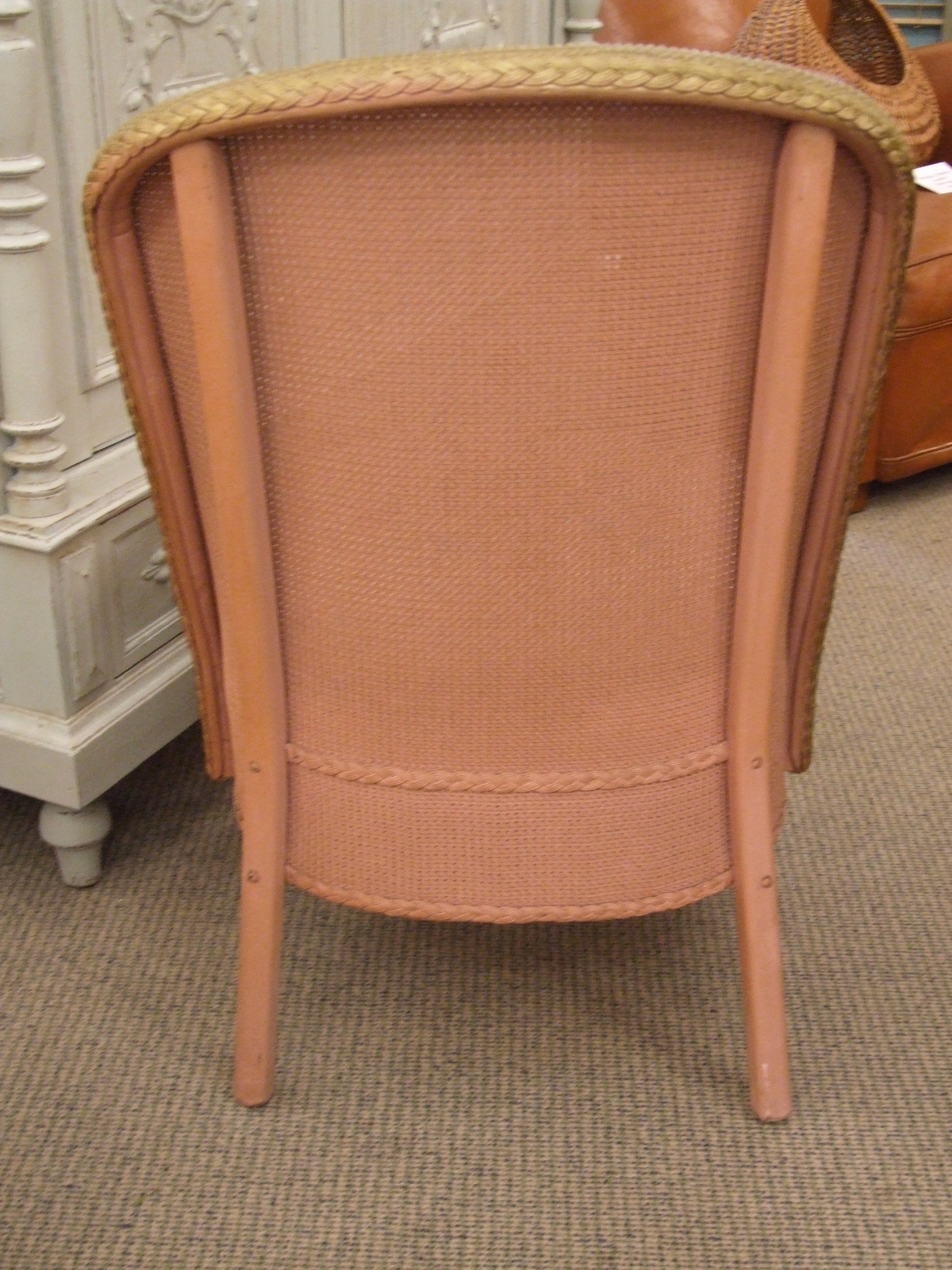 vintage pink bedroom chair and ottoman set c1950 la belle toffe