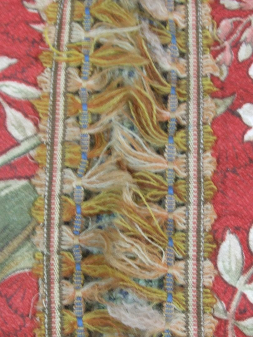 B360 S Gorgeous Pair Antique French Chateau Curtains