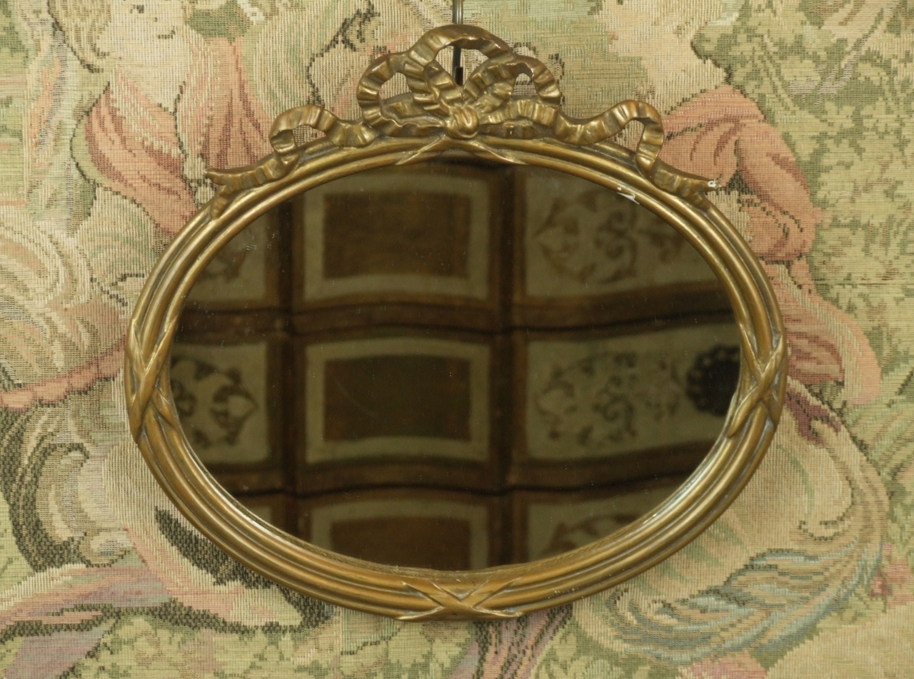 P112 S Beautiful Antique French Gesso On Wood Mirror