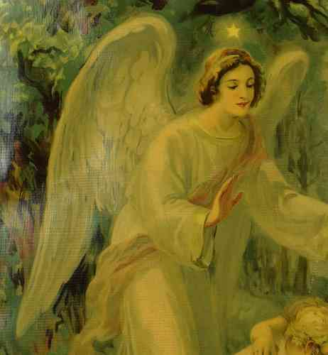 B578 - Divine Antique French Guardian Angel & Little Children Reno Print