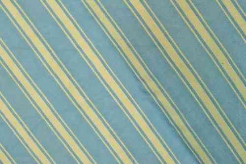 B575 - Superb Large Panel Antique French Striped Mattress Ticking, Early 1900's