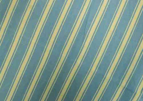B576 - Batch 3 Panels Antique French Striped Mattress Ticking, Early 1900's