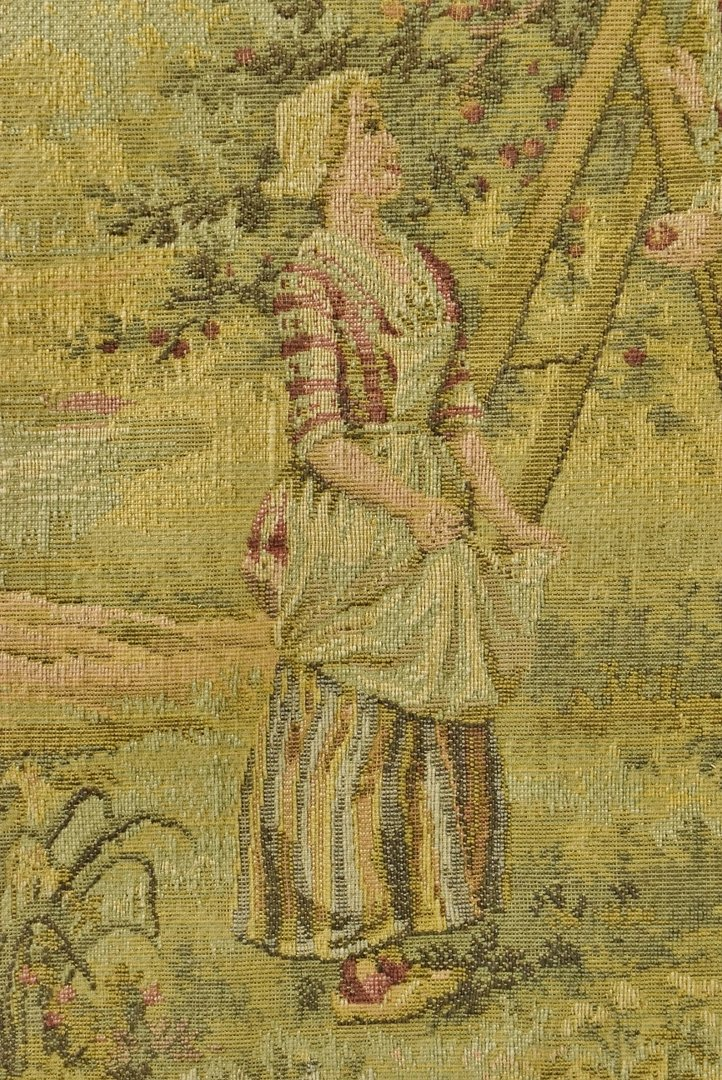 B736 Superb Antique French Tapestry Chocolate Box