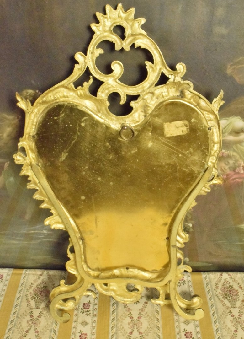 P114 S Beautiful Antique French Rococo Style Brass