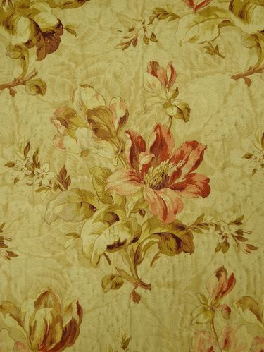 B868 - Beautiful Antique French Boutis Quilt, Stunning Floral Cretonne Design, 19th C