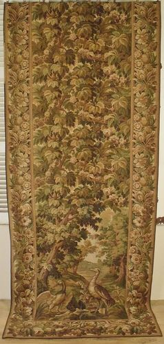 B886 - Spectacular Antique French Long Tapestry Chateau Portiere / Curtain / Hanging