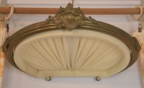 B946 - Sublime Antique French Brass Chateau Ciel De Lit, Bed Couronne/ Canopy, C1900