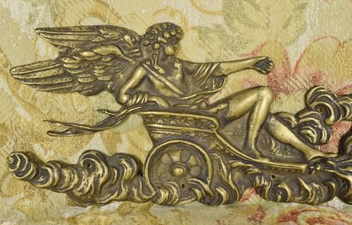 B960 - Stunning Antique French Brass Mount, Winged Greek Goddess & Butterflies 19th C