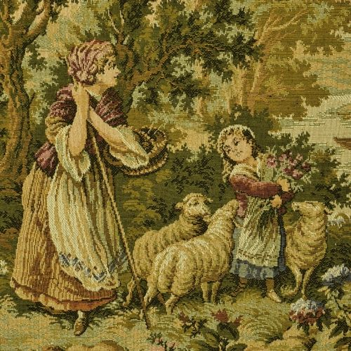B1042 - Sublime Vintage French Tapestry Wall Hanging, Charming 18th C Rural Scene