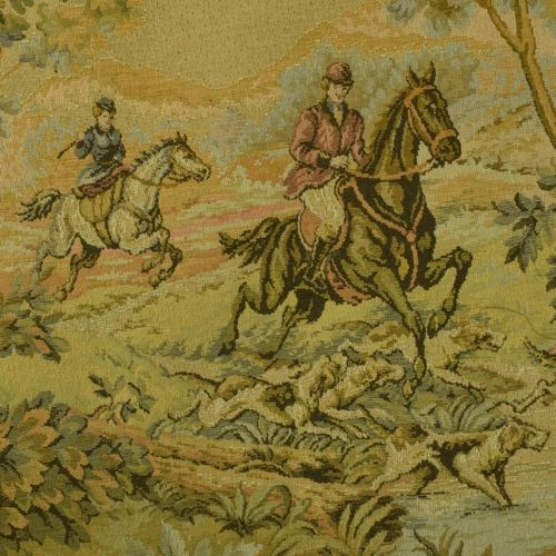 B1046 - Stunning Vintage French Tapestry Wall Hanging, 18th Century Hunting Scene