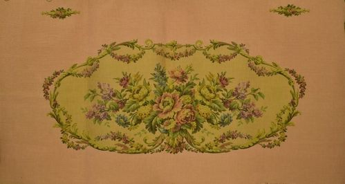 B1054a - Divine Vintage French Floral Tapestry Panel, Seat, Upholstery Project