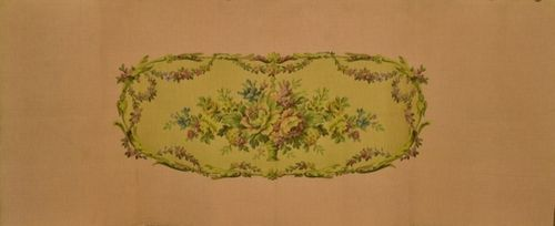B1054b - Divine Vintage French Floral Tapestry Panel, Seat, Upholstery Project