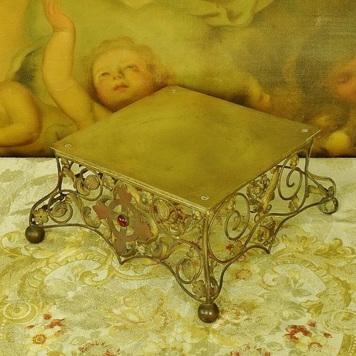 B1084 - Amazing Antique French Decorative Ecclesiastical, Religious Church Stand 19th C