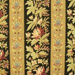 B1158 - Three Superb Long Panels Antique French Heavy Cotton Textile, Napoleon III