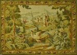B1181 - Fantastic Vintage French Robert Four of Aubusson, Printed Woven Wool 'Tapestry' Wall Hanging