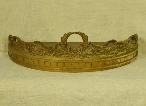 B1243 - Fabulous Large Antique French Gesso On Wood Ciel De Lit, Bed Couronne/ Canopy