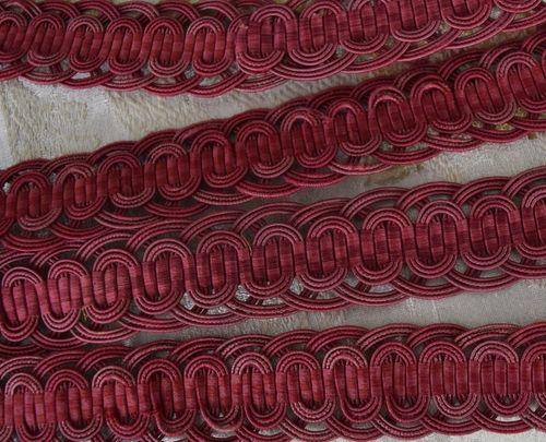 B1257b - Superb 3 M Length Antique French  Silk Serpentine Passementerie, Braid, Trim