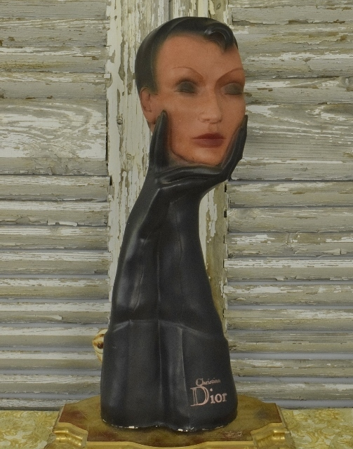 B1279 - Stunning Vintage French 'Christian Dior' Plaster Shop Advertising Mannequin Bust