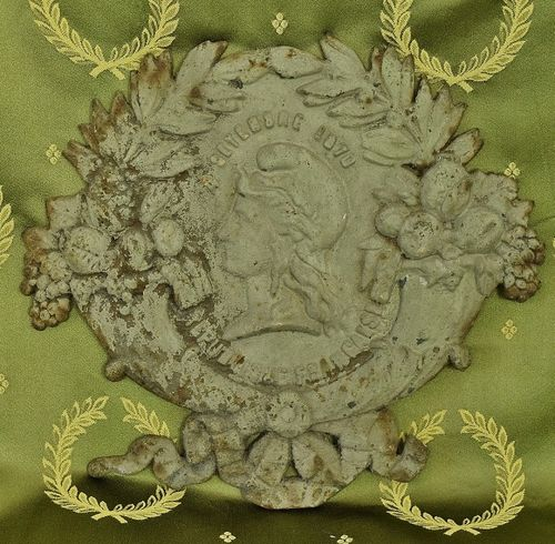B1287 - Superb Antique French Cast Iron Architectural Plaque, Mount, 4 September 1870