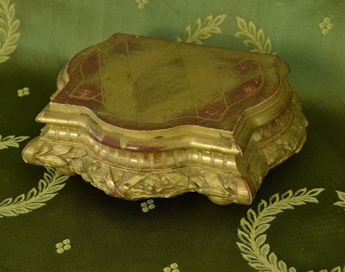 B1290 - Sublime Antique French Empire Style Water Gilded  Display Plinth / Stand 19th C