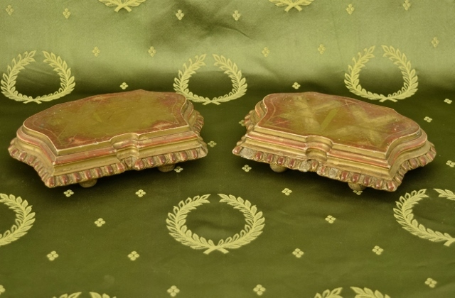 B1357 - Superb PAIR Antique French Empire Style Gilded Display Plinths / Stands 19th C