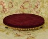 B1379 - Gorgeous Antique French Studded Wooden Display Stand / Plinth With Red Plush Top