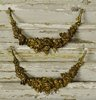 B1386a - Divine PAIR Antique French Gilded Mounts / Embellishments, Flower Garland Swag