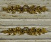 B1387a - Gorgeous PAIR Antique French Gilded Mounts, Bow Crest & Leaf Garland