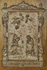 B1436 - Stunning Antique French Copper On Wood Religious Plaque, Imacculate Conception